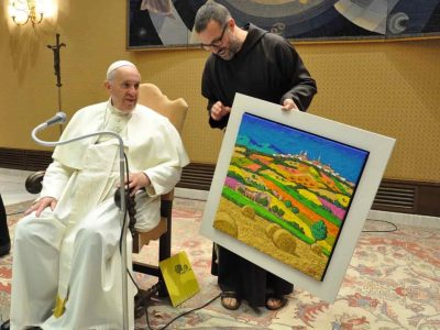Papa Francesco e l'opera di Calisti 2