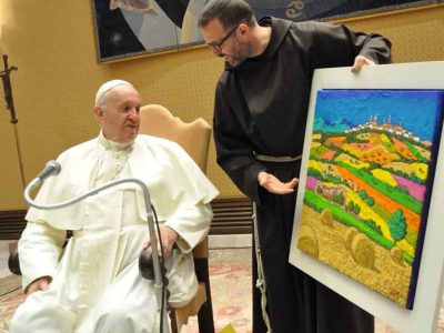 Papa Francesco e l'opera di Calisti 3