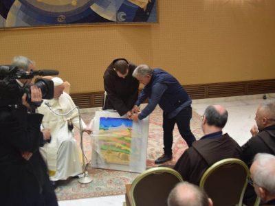 Papa Francesco e l'opera di Calisti 5