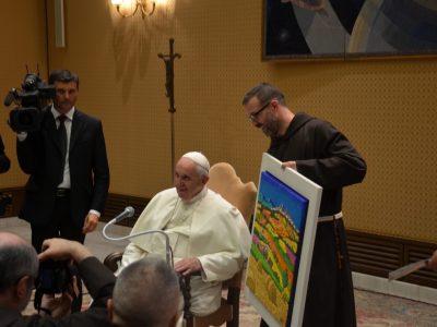 Papa Francesco e l'opera di Calisti 6