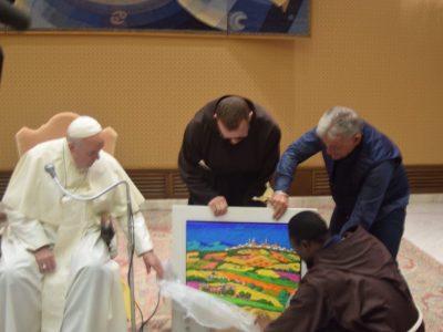 Papa Francesco e l'opera di Calisti 7
