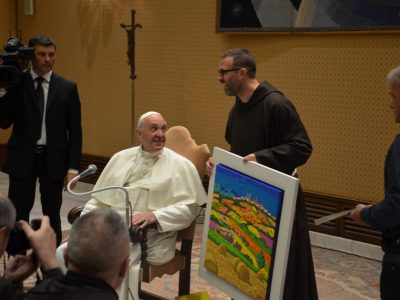 Papa Francesco e l'opera di Calisti 8