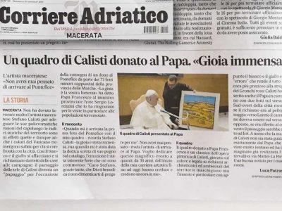 Corriere Adriatico - Un quadro di Calisti donato al Papa