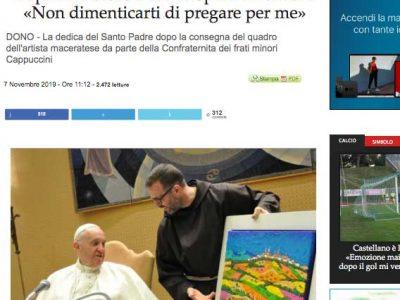 Cronache Maceratesi - Papa Francesco riceve l'opera di Calisti