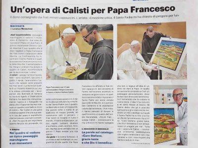 Resto del Carlino - Opera di Calisti per Papa Francesco