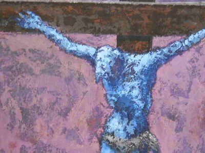 Cristo - Tecnica mista su tavola 140x140